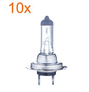 10x Stück H7 12V 55W Birnen Lampen Autolampe Birne Halogen Lampe PX26d Classic
