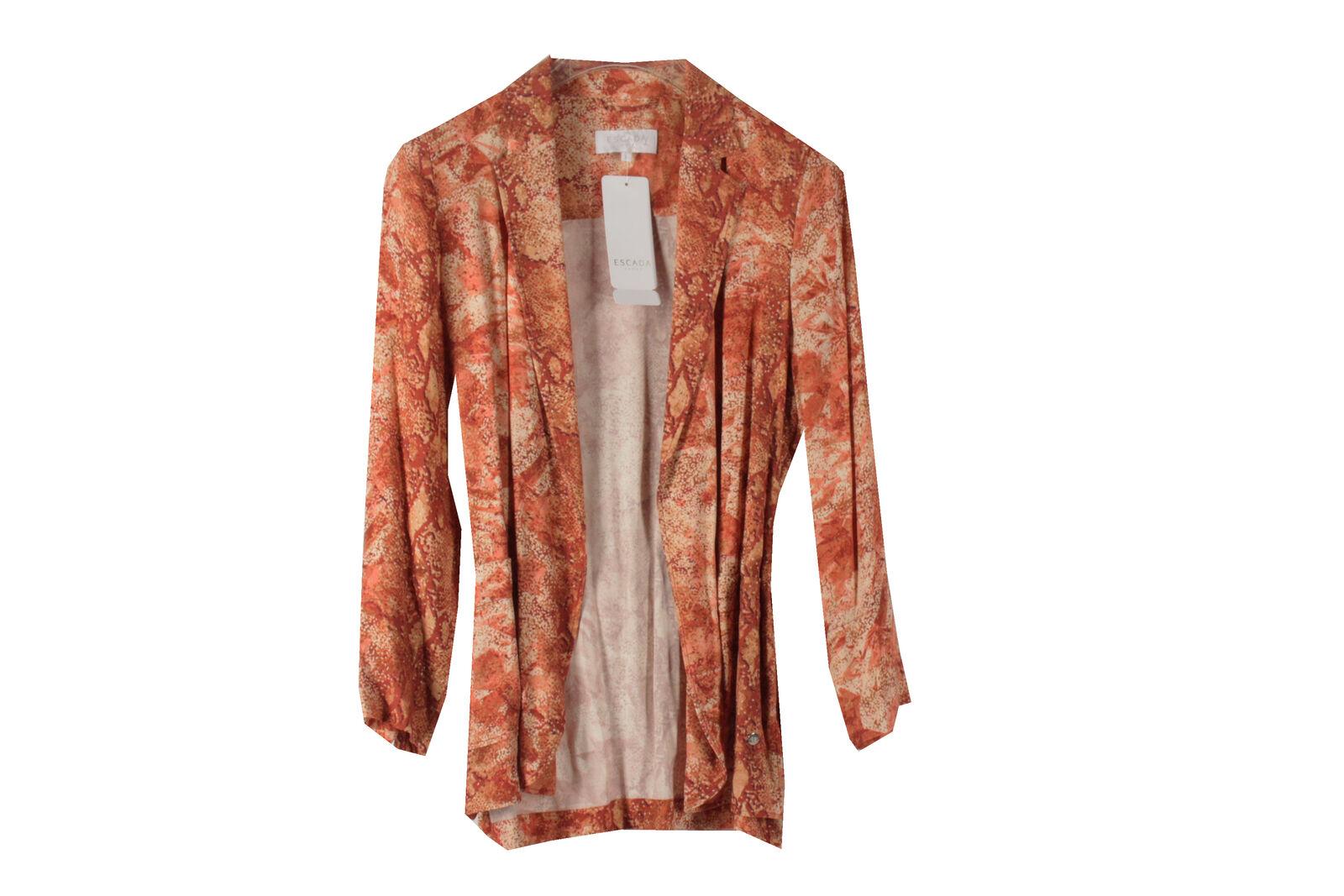 Escada Sport Barbarella 1004080 abrigo señora chaqueta  blazer talla 36 naranja-marrón NUEVO  se descuenta