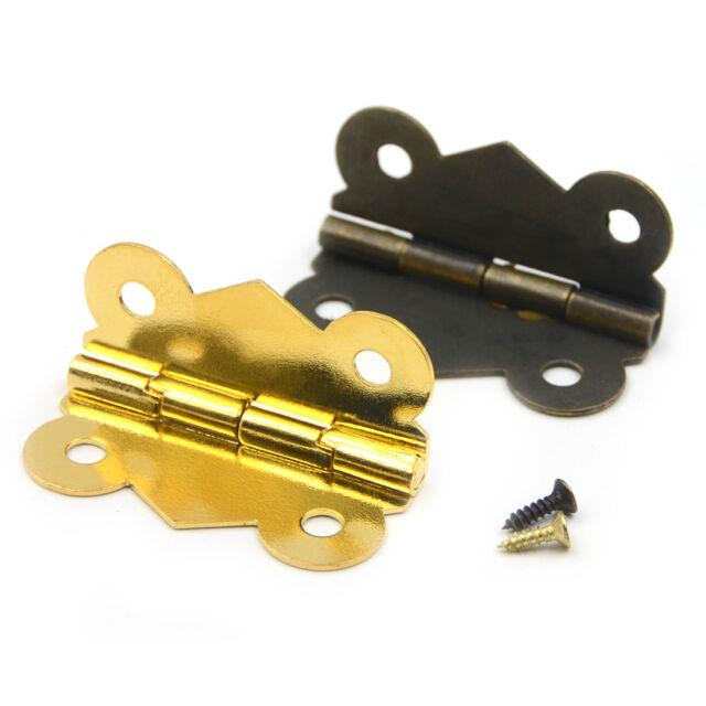 50Pcs White Butterfly Hinge//Ordinary Flat Hinge//Hinge Box//Jewelry//Hardware Small Hinge Wholesale