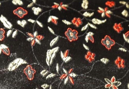 Brocados-flores negro METERWARE