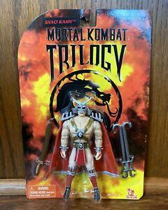 Shao Khan Vintage Mortal Kombat Trilogy Action Figure New MOC 1998 Toy Island