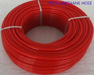 6 x 8mm Fuel Gas Air flex Polyurethane PU Pneumatic Tube Hose Pipe-Yellow