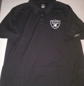 promo code 370e3 7e9c6 Details about OAKLAND RAIDERS DRI FIT MENS BLACK GOLF SHIRT POLO NEW SIZE  4XL