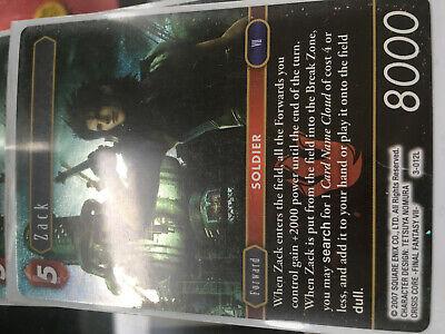 Final Fantasy TCG Opus 3 Zack 3-012L  Foil Legend