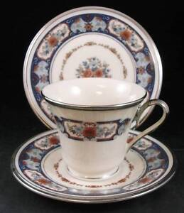 Lenox-INTERLUDE-Trio-Bread-amp-Butter-and-Cup-amp-Saucer-SHOWROOM-INVENTORY-A