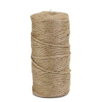 100m//roll Natural Hemp Rope Jute Twine Burlap String Wrapping Cords Thread #Z