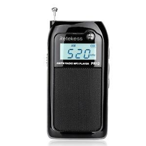 portable fm am 2 band digital tuning radio mp3 player. Black Bedroom Furniture Sets. Home Design Ideas