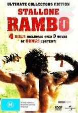 RAMBO TRILOGY = 1+2+3 = NEW Sealed DVD R4 = Box Set