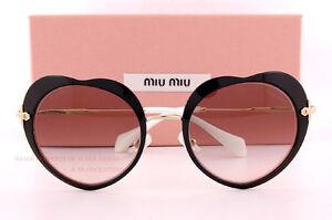 00d081fa5311f Brand New Miu Miu Sunglasses MU 54R 54RS 1AB 4K0 Black Grey For ...