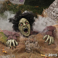 Oriental Trading Company Clawing Zombie Groundbreaker With LED Eyes - Halloween Decorations & Scary Toys