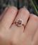 1-6ct-Oval-Cut-Red-Garnet-Engagement-Ring-14k-Rose-Gold-Finish-Vintage-Milgrain thumbnail 1