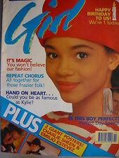 GIRL MAGAZINE 26/4/89 - MADONNA - MICHAEL JACKSON - PERFECT DAY