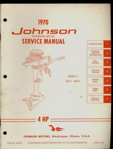 1970 johnson 4hp outboard service manual models 4r70 4w70 jm rh ebay com johnson 4 hp outboard motor manual johnson 4 hp outboard manual