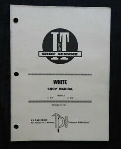 """WHITE FARM EQUIPMENT """"2-30 & 2-35"""" TRACTOR I & T SERVICE SHOP MANUAL VERY NICE"""