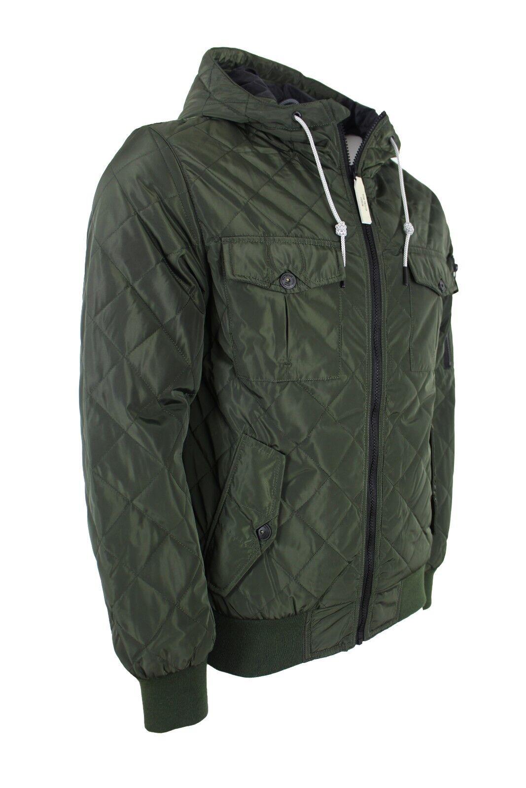 Tom Tailor Denim da Uomo Trapuntata Con TAGLIA Tasche-COLORE WOODLAND verde TAGLIA Con XL 162f8a