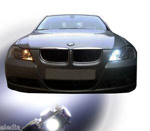 BMW-E90-E91-serie-3-2-Ampoules-LED-Blanc-Eclairage-Veilleuses-Feux-position