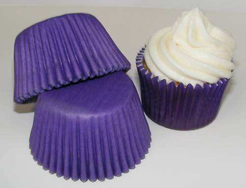 Cup Cake cases 48 x high quality purple Muffin