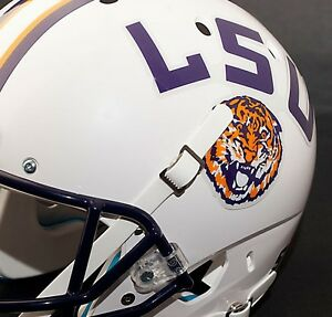 LSU TIGERS NCAA Authentic FULL SIZE Football Helmet DECALS ...