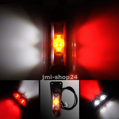 Kabel LED Umrissleuchte 90x25x35mm Anhänger LKW Trailer 12//24 V Weiß Rot Gelb m