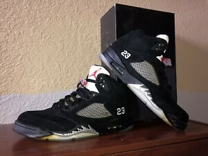 dd6fc4c376a 2011 NIKE AIR JORDAN V 5 RETRO OG BLACK METALLIC SILVER FIRE RED ...