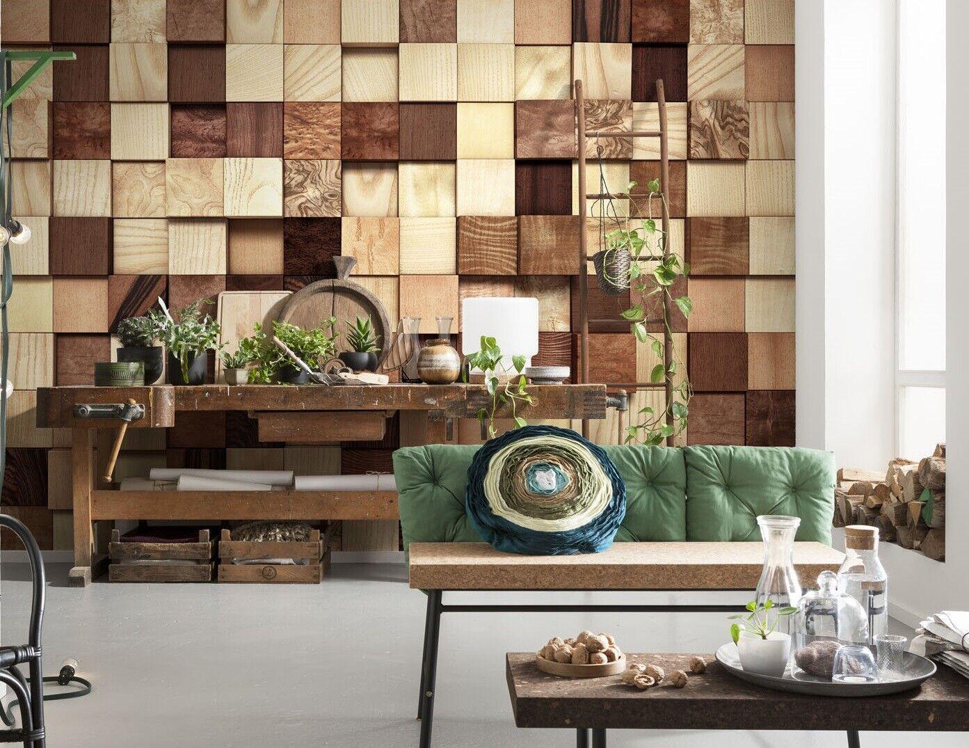 Giant Paper Wallpaper 368x254cm Wooden