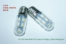 2 PCS 1W LED Mini Bulb E14 SES Lamps for Fridge, Cabinet Refrigrator COOL WHITE