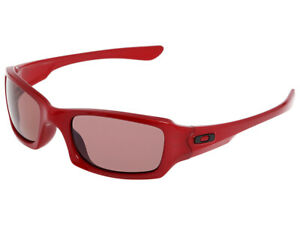 Oakley-Fives-Squared-Polarized-Sunglasses-26-201-Metallic-Red-OO-Grey