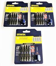 3 Irwin 5pc Impact Torx Double End Screw Driver Bit Sets T15 T20 T25 T30 1903522