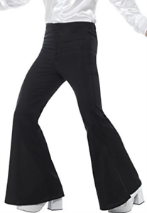Flared Trousers Size: Chest 38`-40`, Leg Inseam 32.. COST-M NEW Mens Black -