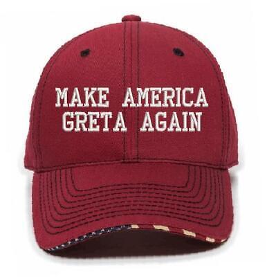 MAKE AMERICA GRETA Cardinal Red USA-800 Embroidered Hat Free Shipping