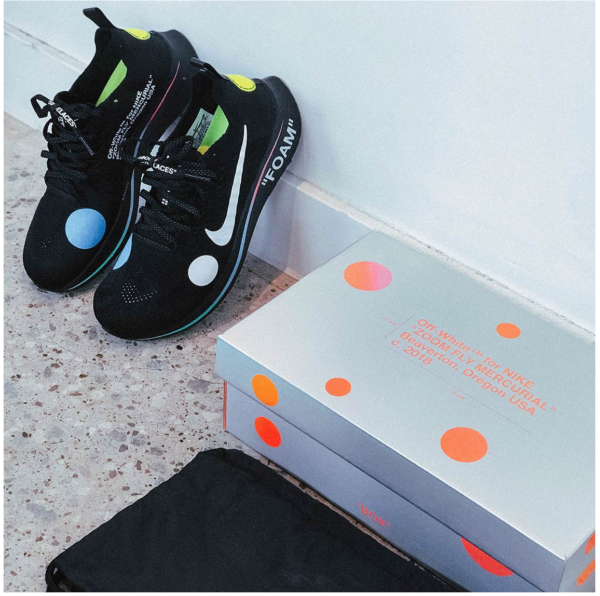 4de74b1694ed1 OFF-WHITE x Nike Zoom Fly Mercurial Flyknit A02115-001 Black White size