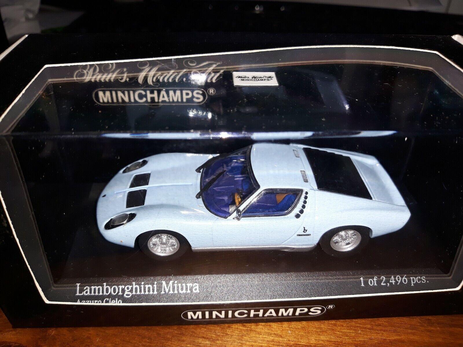 Minichamps 1 43 Lamborghini Miura 1966 azzurro cielo