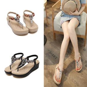 Sandalias-Zapatos-Suaves-Mujer-Moda-Bohemian-Clip-Plataforma-Talla-Grande