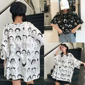 Women-Harajuku-T-shirt-Girls-Loose-Short-Sleeve-O-Neck-Tops-Graphic-Korean-Tees