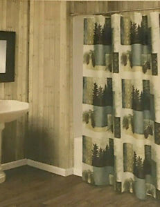 Bacova-Westlake-Fabric-Shower-Curtain-Pine-Cones-Trees-Cabin-Lodge-Camp