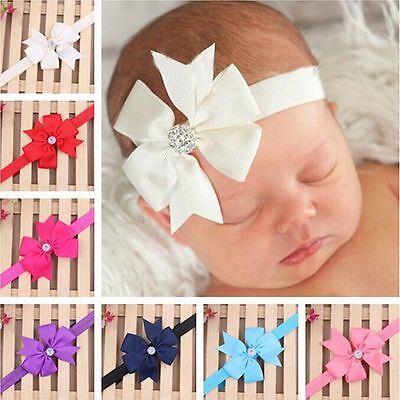 Newborn Baby Girl Headband Infant Toddler Bow Hair Band Girls Accessories Photo