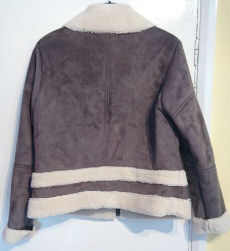 daim M mouton en laine gris zippée Indigo imitation gris Veste neutre S SOIgqg