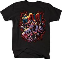 Tshirt -wicked Jester Playing Poker Aces
