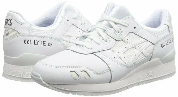 Asics Gel Lyte III 3 3 3 Trainers Triple White Black shoes Ship internationally 2cf834