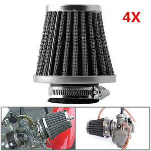 New-4X-52mm-Universal-Tapered-Pod-Air-Filters-Cleaner-For-Motorcycle-Cafe-Racer