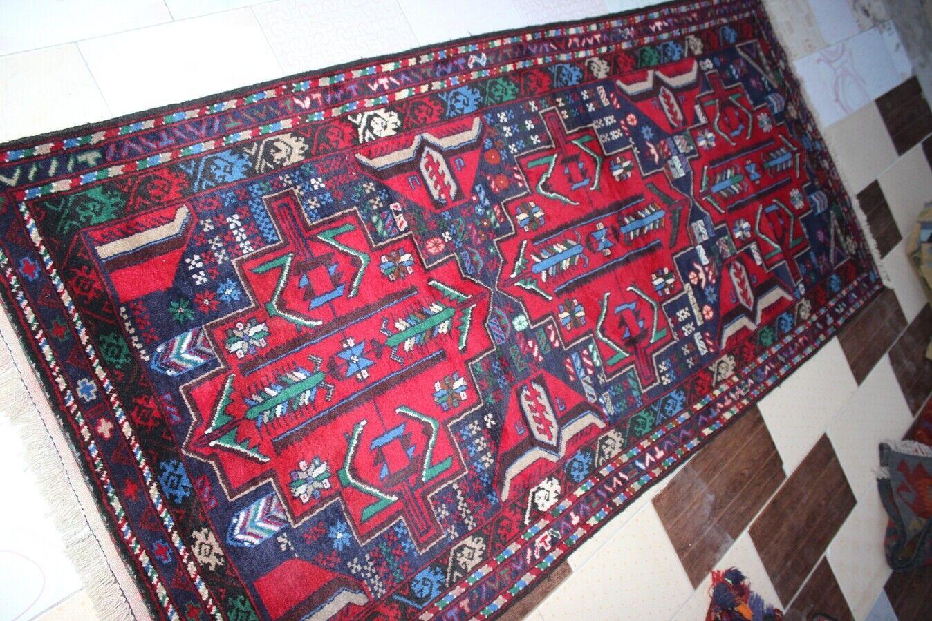 consegna veloce e spedizione gratuita per tutti gli ordini 3864. Tribale Tribale Tribale Afgano Mano Annodato Di Lana Tribal Rug PITTORICA Taglia... 243 x109 cm  negozio online