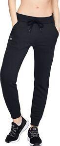 Under-Armour-Rival-Womens-Fleece-Joggers-Black-Sweatpants-Sports-Training-Pants