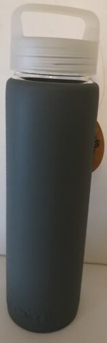 M/&M/'s World Water Bottle With Silicone Sleeve Gray Nice For Travel Or Gift New