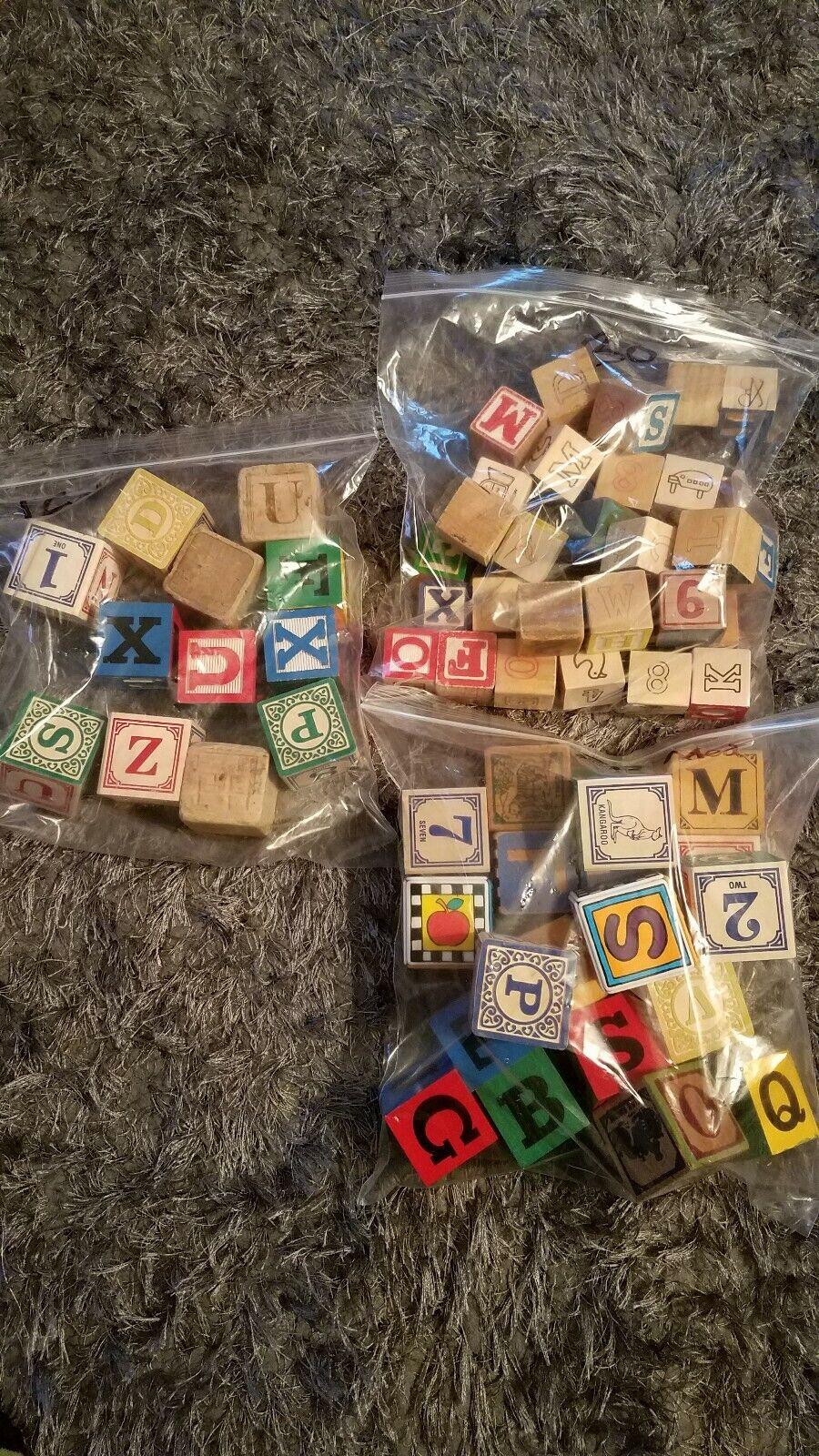 Jahr Holz Picture Number Blocks 62pcs random. Größe sm med 1 1 4in& 1 3 4in