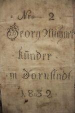 GRAIN SACK German printed black writing Grainsack RARE hemp linen textile heavy