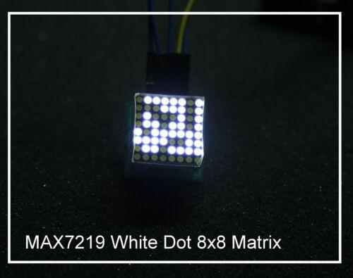 8x8 Matrix Dot LEDs MAX 7219 Display Module White Color