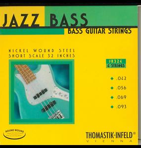 Thomastik-Infeld JR324 T-Jazz bajo guitarra, cuerdas de Rounds I-Escala Corta Corta Corta  alta calidad
