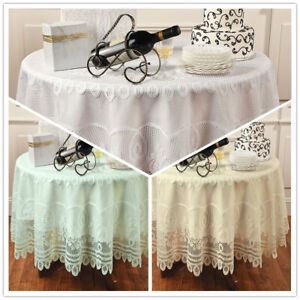 Vintage-Lace-Tablecloth-Floral-Table-Cover-Wedding-Party-Dining-Decor-Round-70-034