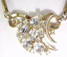 CROWN TRIFARI PHILIPPE 1953 SPRING MELODIES PAT PEND 169,213 Rhinestone Necklace