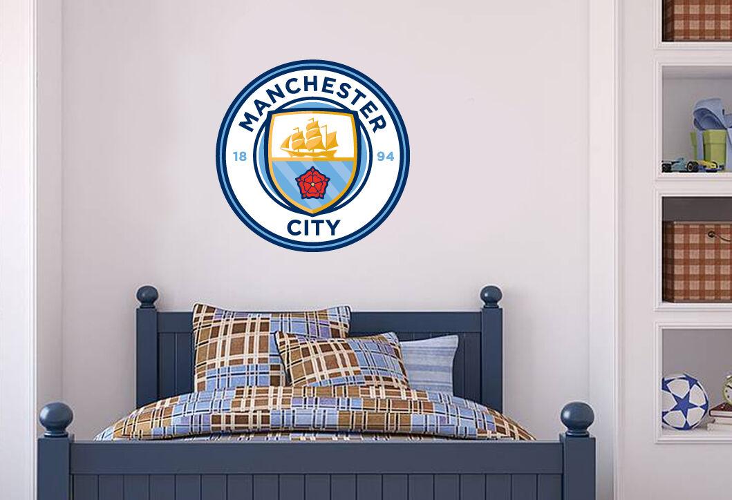 Official Manchester City Bernardo Silva 20//21 Broken Wall Sticker /& Decal Set